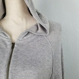 Eileen Fisher Cotton hoodie zipper jacket Medium